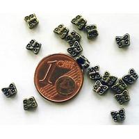 Perles Métal Bronze PAPILLONS 5mm par 20 pcs