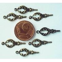 Perles Métal Bronze BRELOQUES CLES plates 18mm par 50 pcs
