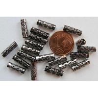 Perles Métal Noir TUBES ajourés 12mm par 20 pcs