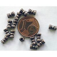 Perles Métal couleur CUIVRE Petits TUBES 5,5mm par 20 pcs