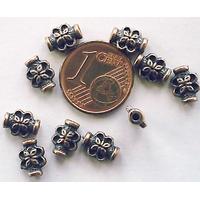 Perles Métal couleur CUIVRE TUBES PAPILLON 8mm par 10 pcs