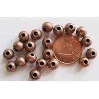 Perles Métal couleur CUIVRE RONDES 6mm par 20 pcs