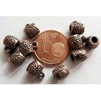 Perles Métal Couleur CUIVRE avec ANNEAU 6mm par 10 pcs