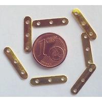 Perles Métal couleur DORE Séparateur 3 rangs 17mm par 20 pcs
