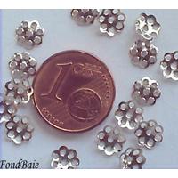 Perles Métal argenté vieilli COUPELLE simple 6mm par 50 pcs