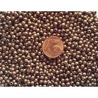 Perles Métal couleur CUIVRE Rondes lisses 3mm par 100 pcs