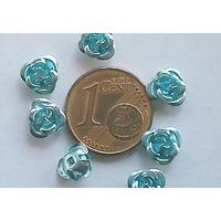 Perles Aluminium Fleur 6mm BLEU CLAIR par 20 pcs