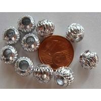 Perles Aluminium Rondes 8mm ARGENTE CLAIR par 10 pcs