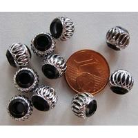 Perles Aluminium Rondes 8mm NOIR par 10 pcs
