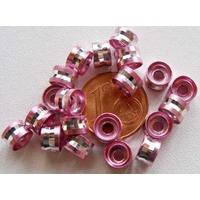 Perles Aluminium Rondelles 6x4mm ROSE par 20 pcs
