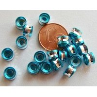 Perles Aluminium Rondelles 6x4mm BLEU par 20 pcs