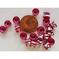 Perles Aluminium Rondelles 6x4mm FUCHSIA par 20 pcs