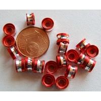 Perles Aluminium Rondelles 6x4mm ROUGE par 20 pcs