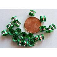 Perles Aluminium Rondelles 6x4mm VERT par 20 pcs