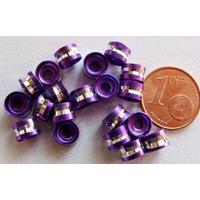 Perles Aluminium Rondelles 6x4mm VIOLET par 20 pcs