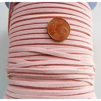 Cordon style DAIM 3x1mm ROSE CLAIR par 2 mètres