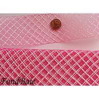 Ruban Résille ROSE FONCE 4cm par 1 mètre