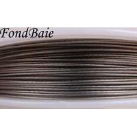 FIL CABLE 0,45mm GRIS ARGENTE par 1 bobine/50m