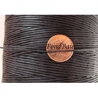 FIL Coton ciré NOIR 1mm plat par 5 m