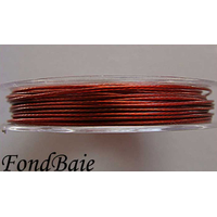 FIL CABLE 0,60mm ROUGE BRUN par 1 bobine de 10m