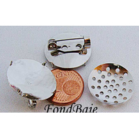 Support BROCHE Rond Tamis 18mm par 2 pc