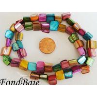 Perles Chips NACRE teintée multicolore par 1 fil de 50pcs env