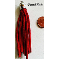 Pompon cordon DAIM 70mm ROUGE par 1 pc