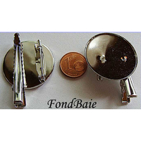 Support BROCHE Rond 30mm 1 pc