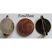 Supports BROCHES Plateau Rond 15mm couleur BRONZE par 4 pcs