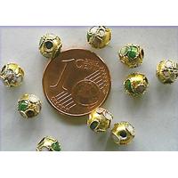 Perles Rondes Cloisonnés 6mm DORE par 10 pcs
