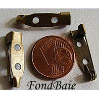 Supports BROCHES épingle metal BRONZE par 4 pcs