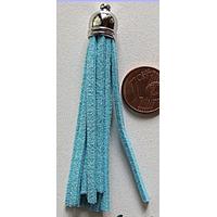Pompon cordon DAIM 70mm BLEU CLAIR par 1 pc