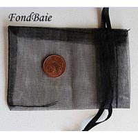 Pochettes Organza 5x7cm NOIR par 5 pcs