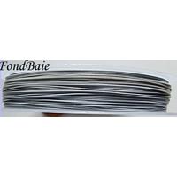 FIL CABLE 0,45mm BLANC GRIS par 1 bobine/50m