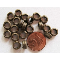Perles Métal BRONZE RONDELLE 7mm par 20 pcs