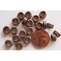 Perles Métal Cuivre RONDELLE 7mm par 20 pcs