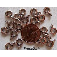 Perles Métal argenté vieilli avec ANNEAU Fin Simple 6,5mm par 20 pcs