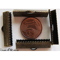 Embouts pour ruban 25mm BRONZE par 10 pcs