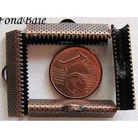 Embouts pour ruban 25mm CUIVRE par 10 pcs