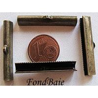 Embouts pour ruban 30mm BRONZE par 4 pcs