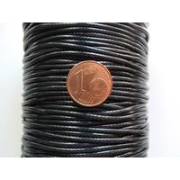 FIL Mix Coton Nylon 1,5mm NOIR par 2 mètres