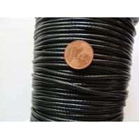 FIL Mix Coton Nylon 2,3mm NOIR par 2 mètres