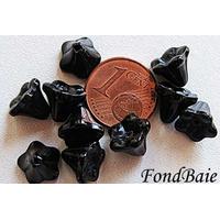 Perles Cones fleurs NOIR 8mm par 20 pcs