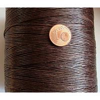 FIL Coton ciré MARRON 1mm plat par 5 m