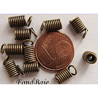 Embouts Ressort 10mm Bronze par 20 pcs