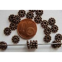 Perles Métal Cuivre RONDELLE Intercalaire MARGUERITE 6,5mm par 20 pcs