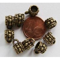 Perles Métal couleur BRONZE avec ANNEAU 7mm par 10 pcs