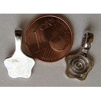 Perles Métal argenté vieilli BELIERE FLEUR 18x11mm par 5 pcs
