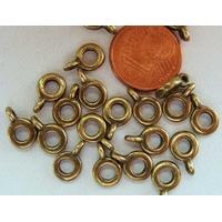 Perles Métal doré avec ANNEAU Fin Simple 6,5mm par 20 pcs