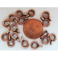 Perles Métal Cuivré avec ANNEAU Fin Simple 6,5mm par 20 pcs